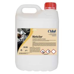Limpiador superficies clorado Cidal Netclor 5L