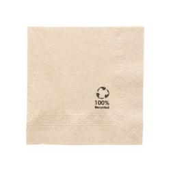 Servilleta papel reciclado  20x20 cm 4800 uds