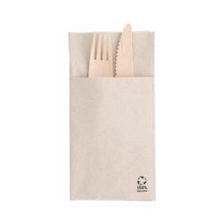 Servilleta cubiertos papel reciclado I-one 1600uds