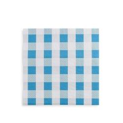 Mantel papel cuadros azules 100x100 300uds