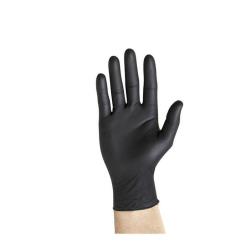 Guantes de nitrilo negro sin polvo Sanyc 100uds