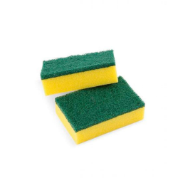 Estropajo de fibra verde con esponja Cida Pico Tex
