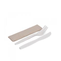 Set cuchillo/ tenedor maíz y servilleta 500uds