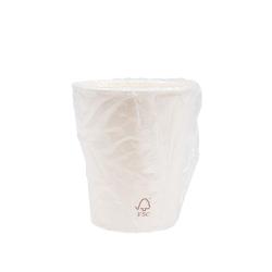 Vaso cartón blanco enfundado 240ml 500uds