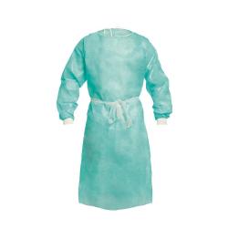 Bata quirurgica desechable color verde 10 unidades