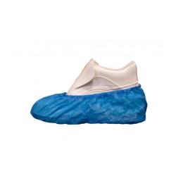 Cubrezapatos de polietileno azul con elástico