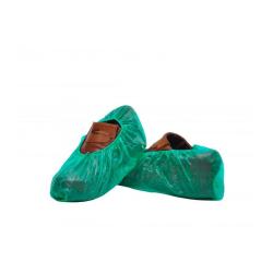 Cubrezapatos de CPE verde con elástico