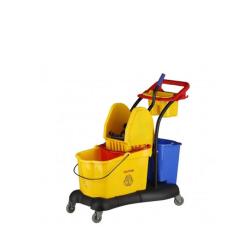 Carro limpieza industrial con carro y prensa Lytec
