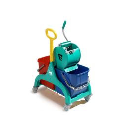 Carro de limpieza con asa TTS Nick Dry doble 2x25L